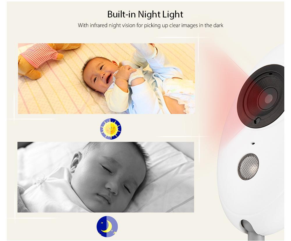 XF808 Wireless Digital Video Baby Monitor Night Vision Temperature Sensor