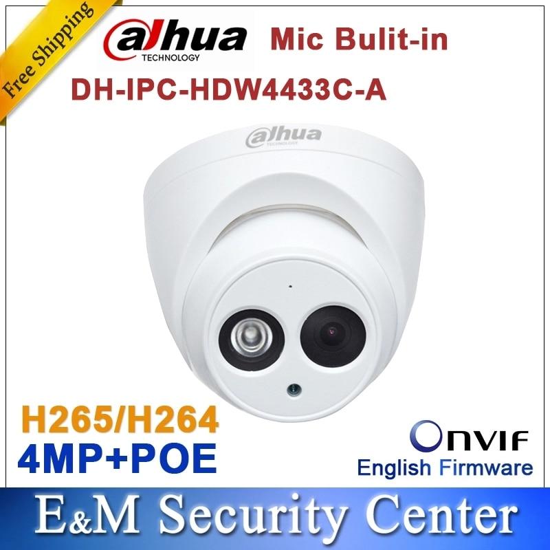 Dahua IPC-HDW4433C-A 6MM Security IP Camera 4MP HD IR 50M Built-in MiC Webcam