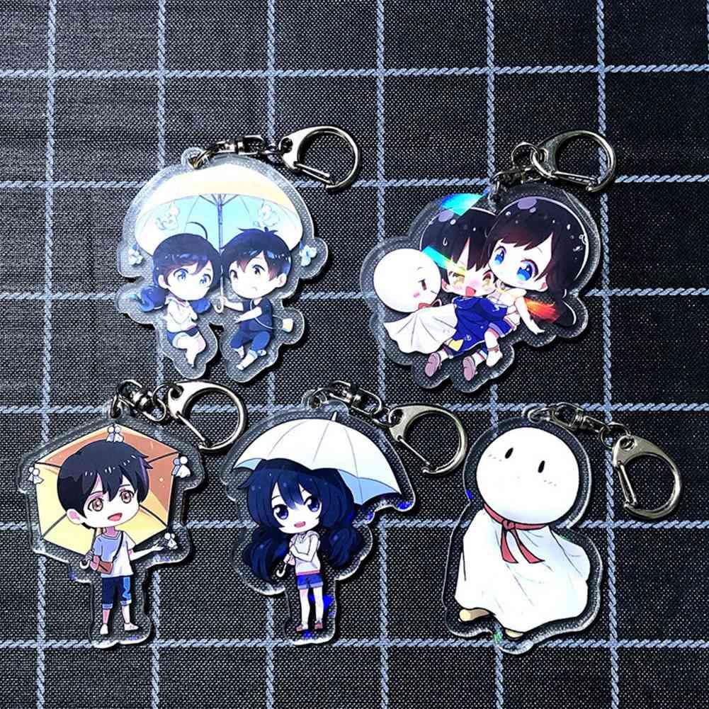 Anime Tenki no Ko Weathering with you Amano Hina Stand Figure Keychain Pendant