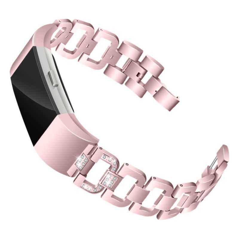 Модные повязки для часов FitBit Charge 2, регулируемый металлический сменный Браслет с стальным металлическим браслетом со стразами!