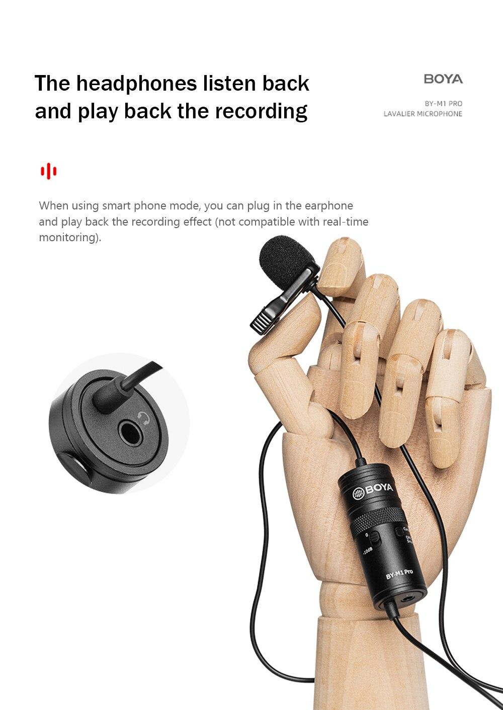 BOYA BY-M1 Pro Universal Lavalier Microphone 5