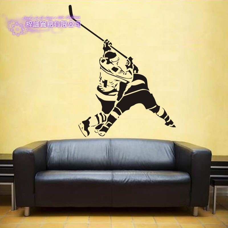 DCTAL Ice Hockey Car Sticker Puck Decal Skiing Ice Sports Posters Vinyl Wall Decals Pegatina Decor Mural Sticker