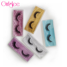 Makeup Eyelashes Daily-Wear Fluffy Natural Reusable Wholesale Girlglee for 8-14mm 3D