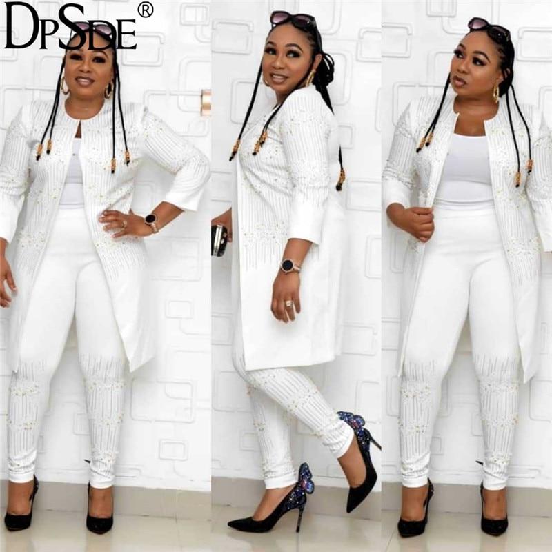 women 2020 casual style condole belt top seven points sleeve appliques outwear elastic long pants pure color three piece sets