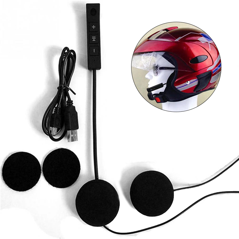 EDR Bluetooth Headphone Motorcycle Helmet Anti-Interference Free for Riding-Hands MP4 title=
