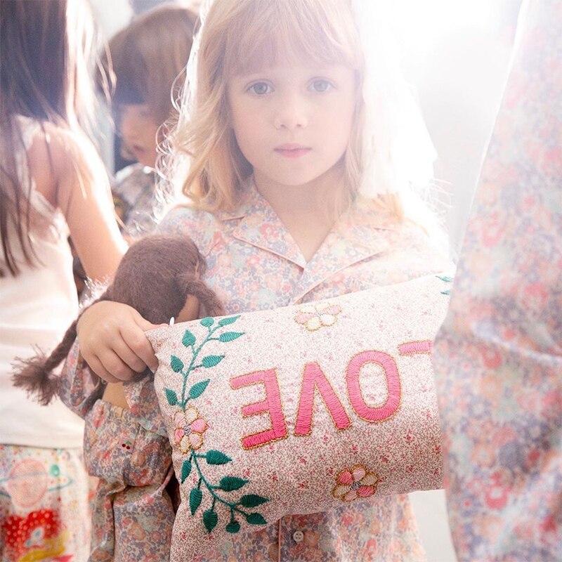 EnkeliBB Brand Design Kids Girls Long Sleeve Pajama Sets Fashion Stars Pattern Home Wear