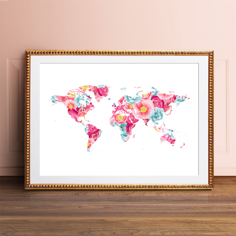 World Map Wall Art Prints