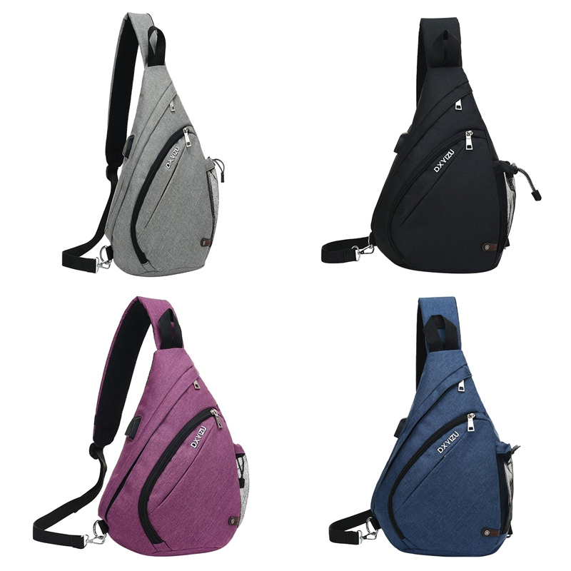 Daypacks-Rucksack Sling Chest-Backpacks for Walking School-Bag Usb-Charging-Crossbody title=