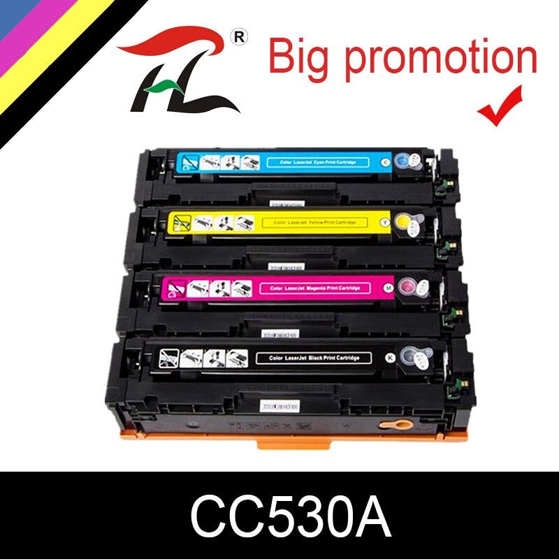 6PK For HP CC530A 304A Color LaserJet CP2025N CP2025DN CM2320NF CM2320FXI Toner