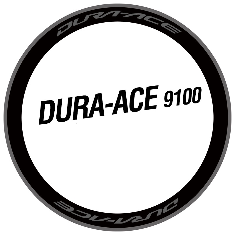 DURA ACE C35 RIM DECAL SET  FOR TWO WHEELS white /& red version