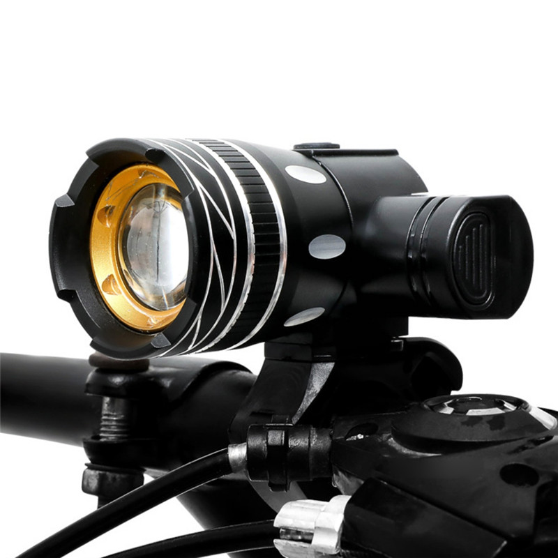 2400LM Double LED Rechargeable Bicycle Head Light Bike USB Lamp+Rotate Mount SD