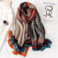 Scarf Fashion Foulard-Bandana Hijabs Pashmina Spring Plaid Winter Warm Cotton New-Design