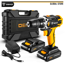 DEKO New Arrival Sharker 20V Electric Screwdriver DC Cordless Drill for Woodworking LED