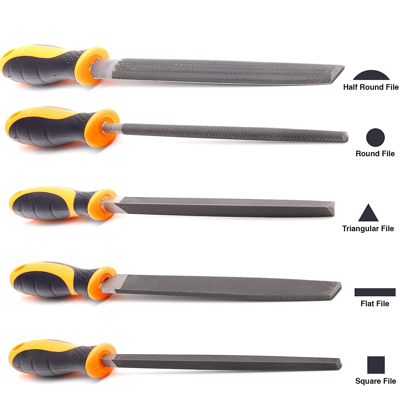 5pcs//set Diamond Files Sandpaper rasp Craft Tool 140mm long Model grinding tool