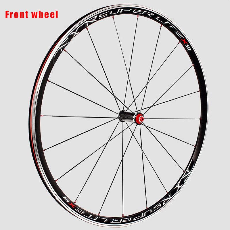 RXR 700C Bike Wheelset Carbon Hub Road Bike Bicycle F&R Wheels Wheelset Clincher Sealed Bearings 7-11 Speed V Brake (18)