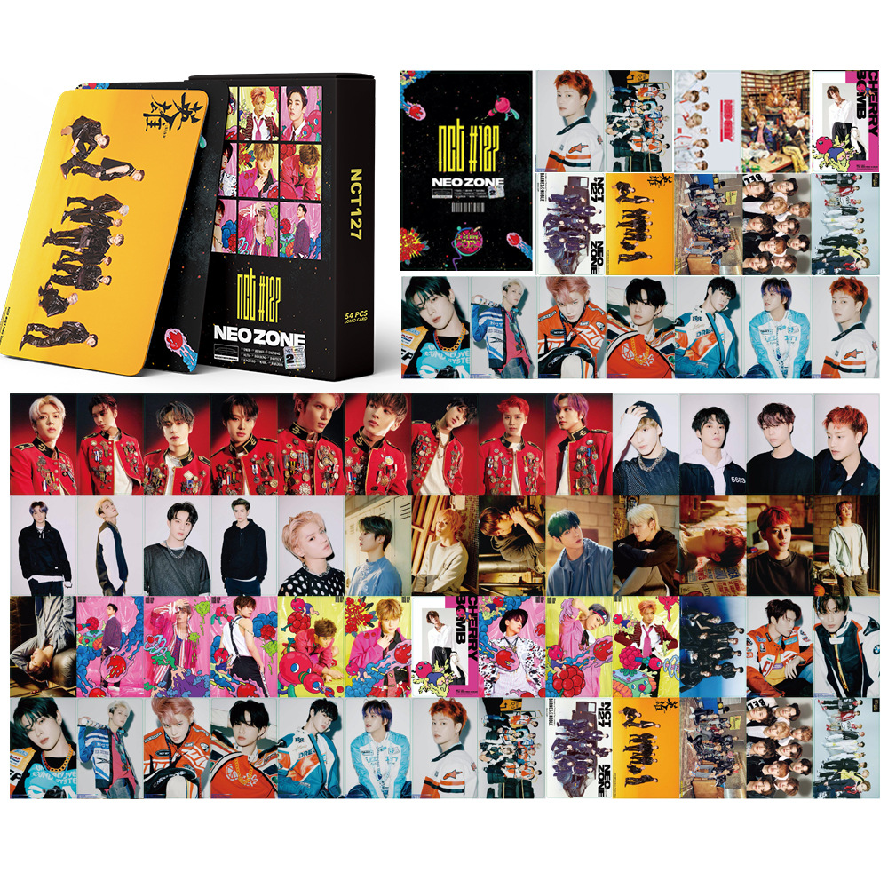 54Pcs/Set NCT 127  Poster Lomo Cards New Fashion Photo Card Postcard Kawaii Stationery Gift