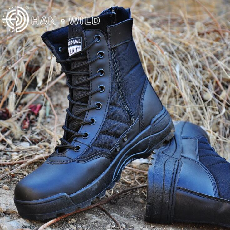 2020 Men Boots Desert Military Tactical Boots Outdoor Waterproof Hiking Shoes Men Sneakers Non-slip Sports Combat Boots title=