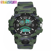 SYNOKE Mens Digital Watches Luxury Brand Sports Life Waterproof LED Military Watch Men Fashion Casual Electronics Wristwatches(Китай)