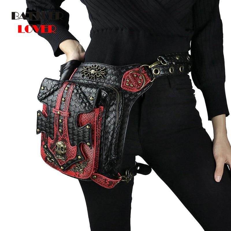 Womens Steampunk Bags Gothic Skull Messenger Handbag Men