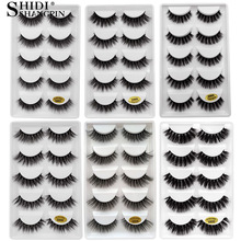 Eye-Makeup-Tools False-Eyelashes Multipack Fluffy Handmade Natural Wispy 5-Pairs G806