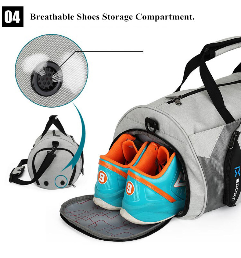 Waterproof Sport Bags Men Large Gym Bag Women Yoga Fitness Bag Outdoor Travel Luggage Hand Bag with Shoe Compartment 2019 (6)