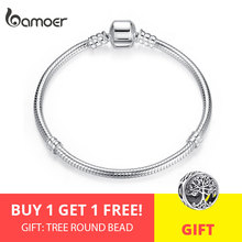 BAMOER Chain Bangle Snake Luxury Jewelry Bracelet For Christmas-Sale Women Authentic