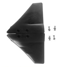 Hydrofoil Fin Stabilizer Outboards Sterndrives 2 Pieces Black Boat 25-70 HP