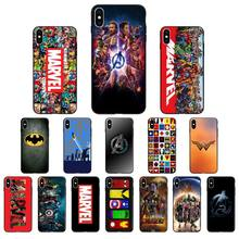 Чехол с рисунком Marvel Super heroes, для Apple iPhone 11, 8, 7, 6, 6S Plus, X, XS MAX, 5, 6, 7, 7, 11, SE, XR, 11 pro(Китай)