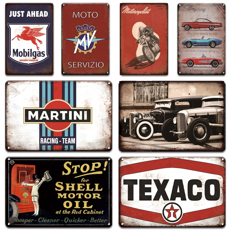 Metal Tin Sign martini racing team Decor Bar Pub Home Vintage Retro Poster
