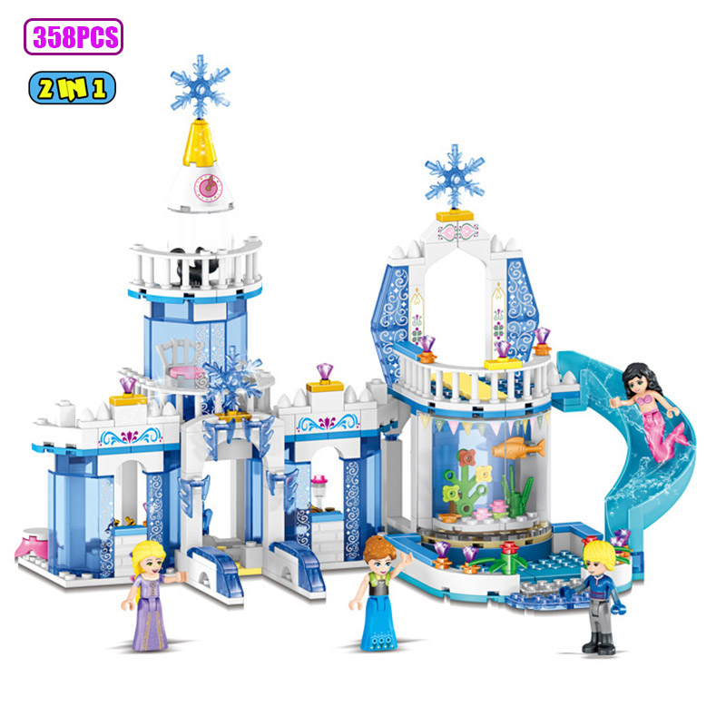358pcs ice castle