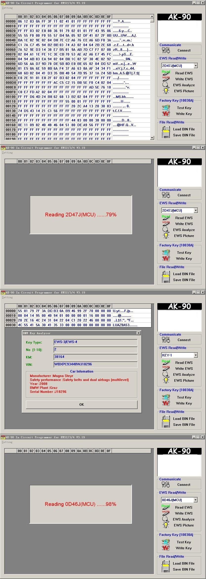 AK90+ software