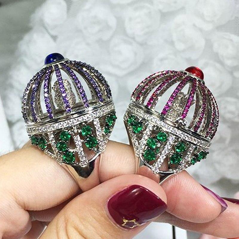 Zlxgirl jewelry Dubai Design Nice full pave cubic zircon copper ring jewelry fine women men bridal ring accessory anel rings