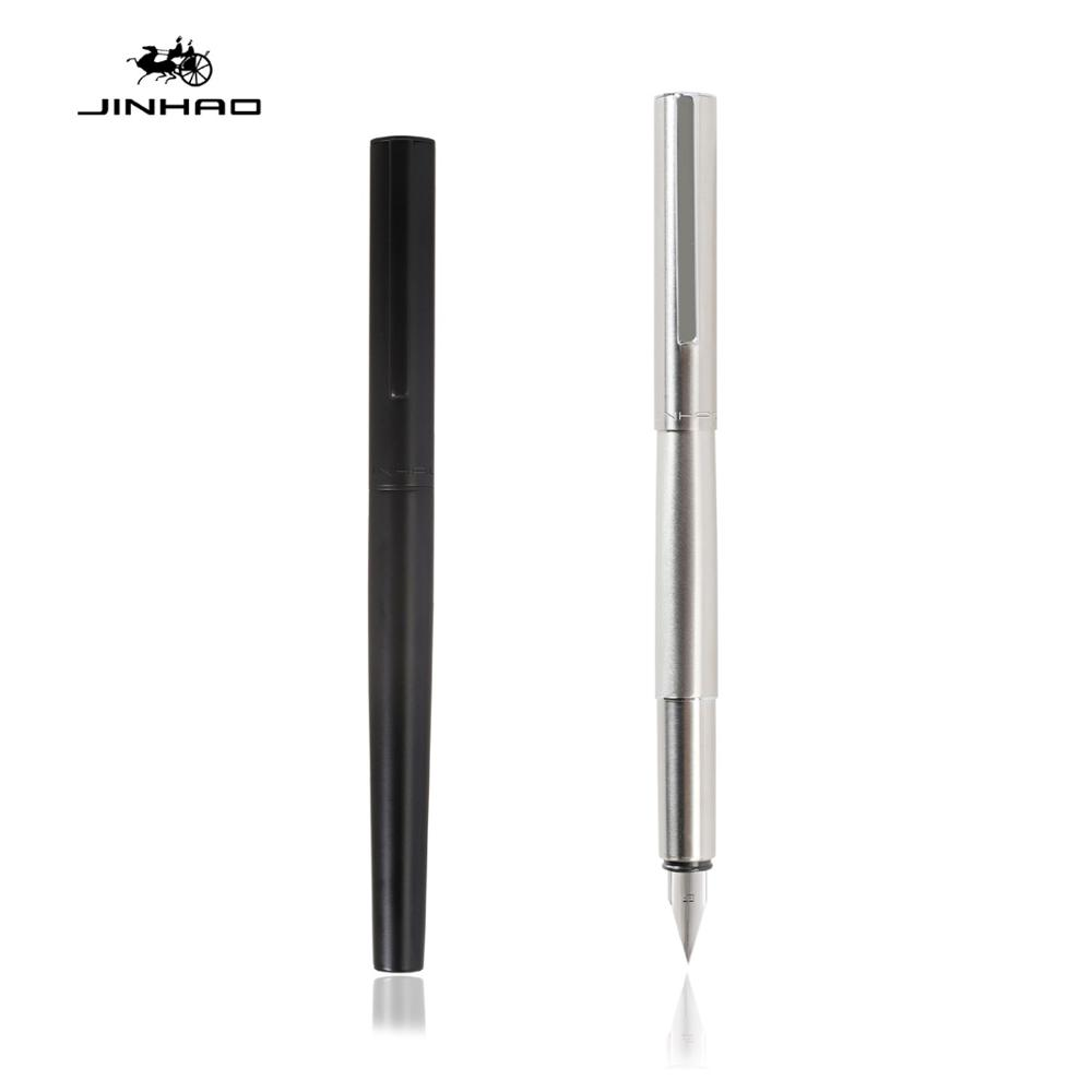 Jinhao 35 Series Fountain Pen Steel Barrel Airplane Extra Fine Tip Ink Pens Office Business School Writing Calligraphy A6118