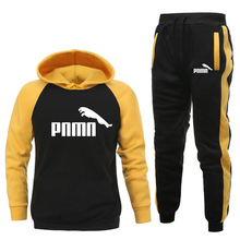 Tracksuit Sweater-Set Clothing-Sets Hoodies Pants Men's New-Brand Sports PNMN