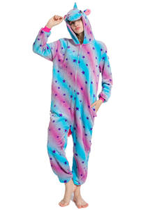 Pajamas Sleepwear Onesies Unicorn Couple Animal Flannel Kigurumi Adults Winter Women