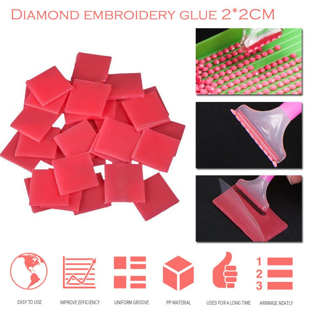 Diamond Painting Glue Clay Beads Pickers Sticker Diy Embroidery Accessory 50pcs