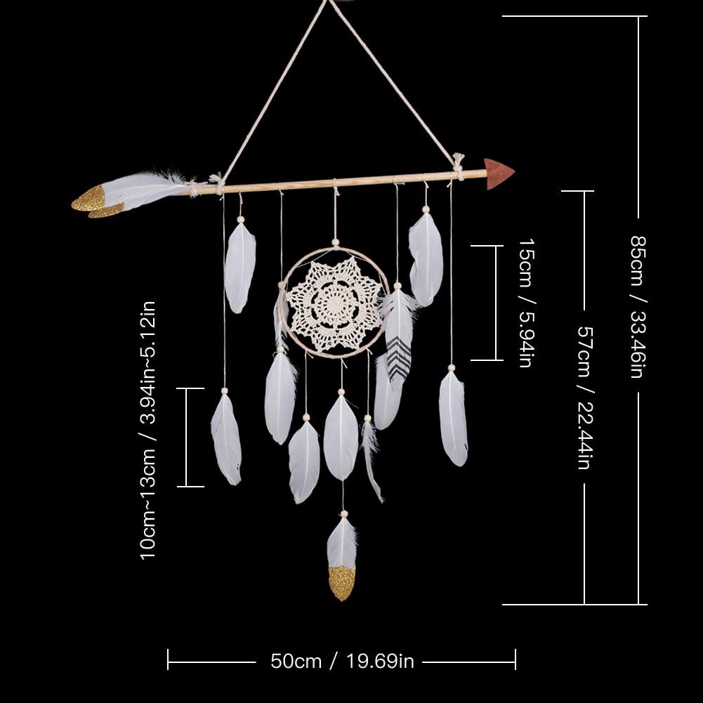 Capteur de Rêves Iroquois - Décoration Chambre Enfant - Culture Amérindienne, premières tribus d'amérique attrape rêves géant décoration murale pour intérieur