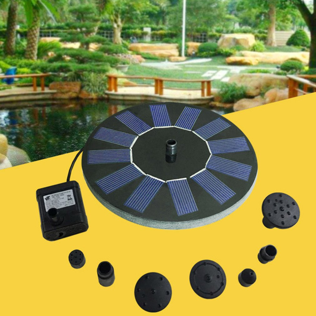 Grass - Outdoor pool round solar floating water fountain Submersible pump Pattern spray