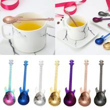 Tea-Spoon Cutlery Coffee-Accessorie Guitar Rose-Gold 304-Stainless-Steel Candy Snack