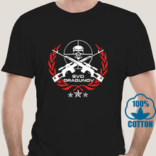 T-Shirt Men Russian Sniper Svd Dragunov Punk 3xl Casual 9437D Tee Riffle T-Gift Army-Force