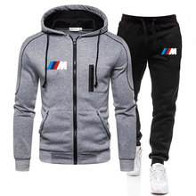 Tracksuit Pants Sportswear Zipper Hoodie Winter-Sets Two-Pieces Brand-Clothing Casual