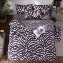 Pillowcase Bed-Cover-Set Comforter Leopard-Print Adult Girl Child Boy 61014 4pcs Kid