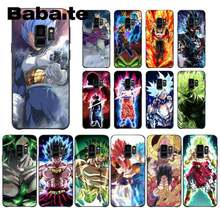 Babaite Dragon Ball Saiyan Goku Vegetto Broly черный ТПУ мягкий чехол для телефона samsung GALAXY S9 plus S3 S6 7 8 9 S10 E S9 Mobile(China)