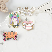 Brooches Backpack Badges Pins-Up Quote-Pins Funny Letter Women for Lapel Golden-Line