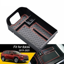 Armrest-Box Center-Console Rav4-Accessories Toyota for Organizer Tray Secondary-Storage