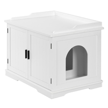 Cat Litter Box Enclosure Cabinet Furniture Wooden Indoor Storage Bench for Living Room