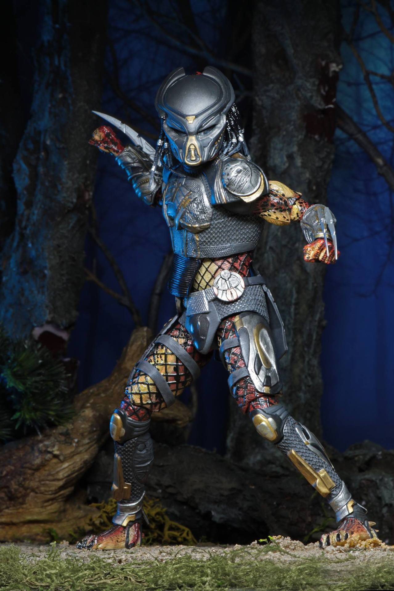 2pcs Head 2018 New NECA Aliens vs Predator Ultimate Fugitive Predator Unmasked Scarface Action Figure Toy Doll (8)