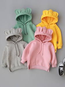 MUQGEW Sweatshirt Tops 3d-Ear-Hoodie Toddler Infantil Baby Boy Winter Kids Cartoon Roupa