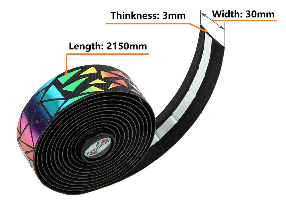 Taśma na kierownicę roweru szosowego taśma na rower taśma na kierownicę Rainbow Tap EVA PU kolarstwo tłumienie antywibracyjne Wrap w/ 2 zaślepka do kierownicy -