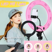 Photography LED Selfie Ring Light Dimmable Camera Phone Ring Lamp 12inch Without Table Tripods For Makeup Video Live Studio